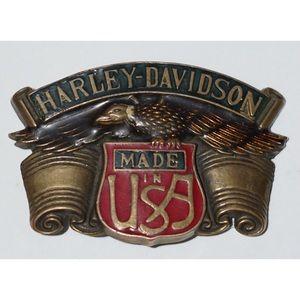 Harley-Davidson Made InThe USA Belt Buckle Vintage